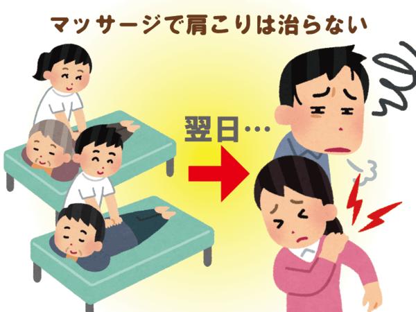 ★肩こりはマッサージでは治らない!?★